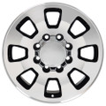 """18"""" Fits Chevrolet GMC Sierra 2500 3500 Wheel Black with a Machined Face Set of 4 18x8"""""""