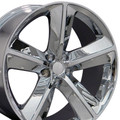 "20"" Fits Dodge Challenger SRT8 Charger 300 Mopar Wheel Chrome 20x9 Hollander # 2329"