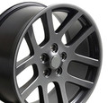 "22"" Fits Dodge Ram SRT 10 Ram Laramie Hemi Dakota Durango Viper Wheel Rim Gunmetal Gray Set of 4 22x10 - Hollander 2223"