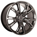 "20"" Fits Jeep Grand Cherokee Dodge Durango SRT8 SRT 2013-14 Style Wheels Hyper Silver Dark Set of 4 20x10"" - Hollander 9113"