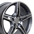 "17"" Fits Mercedes Benz - AMG Replica Wheel - Gunmetal 17x8"