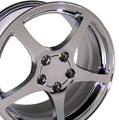 "17"" Fits Camaro Corvette C5 Wheel Chrome 17x8.5 Hollander 5122"