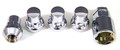 Chrome Locking Lug Nuts - Set of 4