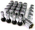 Chrome Lug Nuts Locks and Valve Stems - Set