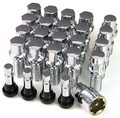 Chrome Lug Studs, Locks and Valve Stems Set