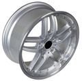 "18"" Fits BMW 5,6,7, 8 Series Wheels Rims- Set of 4-Staggered Look deep 3"" dish Rears- Silver w/ Machine Lip 18"""