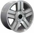 "20"" Fits Chevrolet Silverado Suburban Tahoe Sierra Texas Style Wheel Silver 20x8.5 Hollander 5291"
