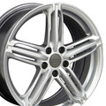 "18"" Fits Audi - New RS6 Replica Wheel - Hyper Silver 18x8"