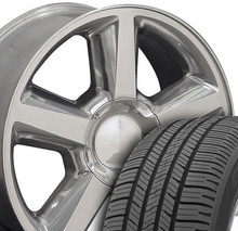 """20"""" Fits Chevrolet - Tahoe Wheels and Tires - Polished 20x8.5"""