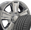 """20"""" Fits GMC - Tahoe Replica Wheels and Tires - Chrome 20x8.5"""