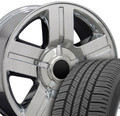 """20"""" Fits Chevrolet - Texas Wheels and Tires - Chrome 20x8.5"""