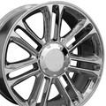 """22"""" Fits Cadillac - Set of 4 Escalade Platinum Replica Wheel Rim - Chrome 22x9"""" - Hollander 5358"""
