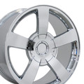 "20"" Fits Chevrolet Silverado SS Wheels Rims Chrome Set of 4 20x8.5 Hollander 5243"
