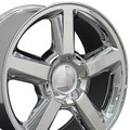 "22"" Fits Chevrolet Tahoe Avalanche Suburban Wheels Rims Chrome Set of 4  22x9 - Hollander 5308"