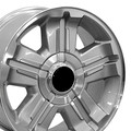"18"" Fits Chevrolet Z71 Replica Wheel Rim - Silver 18x8  Hollander # 5300"