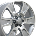 "20"" Fits Ford F-150 Replica Wheels Rims - Silver Machine Face Set of 4 20x8.5 Hollander # 3787"