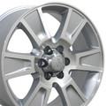"4 Set 20"" Fits Ford F-150 Replica Wheels Rims - Silver Machine Face 20x8.5 Hollander # 3787"