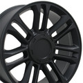 "4 Set 22"" Platinum Cadillac Escalade Replica Wheels Rims - Matte Black 22x9 Hollander # 5358"