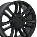 "4 Set 22"" Platinum Cadillac Escalade Replica Wheels Rims - Matte Black 22x9 Hollander # 5358"