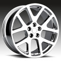 "22"" Fits Dodge Challenger Charger 300 SRT Magnum Viper Wheel Chrome Set of 4 Staggered 22x9"" & 22x10"""