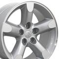 "20"" Fits Dodge Ram 1500 Chrysler Durango Dakota Wheels Rims Silver Machine Face Set of 4 20x9"" Rims Hollander 2267"
