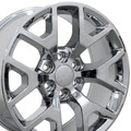 "Set of 4 20"" Chevy 1500 GMC Sierra Replica Wheels Rims Chrome 20x9-"