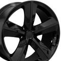 "Set of 4 - 20"" Fits Dodge - Challenger SRT Replica Wheel Rim- Gloss Black 20x9"" - Hollander # 2329"