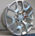 "22"" 2014-15 Style GMC Sierra Chevy 1500 Replica Wheels Rims Silver Machine Face Set of 4 22x9"" - Hollander: 5656"