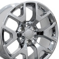 "Set of 4 22"" 2014-15 GMC Sierra Chevy 1500 Replica Wheels Rims Chrome 22x9"" - Hollander: 5656"