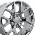 "Set of 4 22"" 2014-15 GMC Sierra Chevy 1500 Replica Wheels Rims Chrome 22x9"" - Hollander: 5656"
