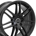 "18"" Fits Audi  RS4 Wheel Gloss Black Set of 4 18x8"" Rims"