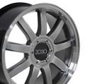 "18"" Fits Audi RS4 Wheels Rims Hyper Silver Wheels Set of 4 18x8"" Rims"