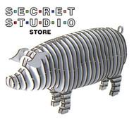 D-Torso System Model Kit - Pig White