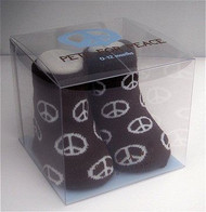 Organic Baby Bootie Socks - Peace Sign