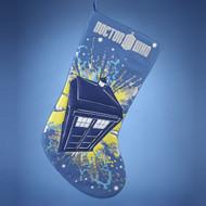 Doctor Who Tardis Christmas Holiday Stocking