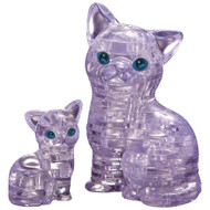 3D Crystal Cat and Kitten Puzzle