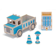 Play-Deco Work Vehicles: Dump Truck Pen Holder and Container
