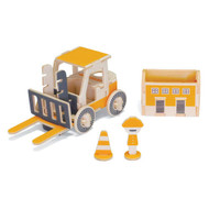 Play-Deco Work Vehicles: Fork Lift Memo Holder and Pen Stand