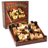 Cathedral Wood Stratagy Game and Puzzle