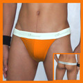 T-Back Orange Thong - Small