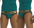 Bold-Line Cotton Push-up Brief Green