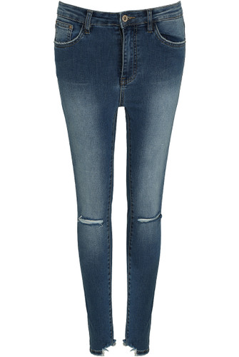 Knee Ripped Skinny Jeans - Buy Fashion Wholesale in The UK
