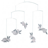 Circular Bunnies Mobile by Flensted