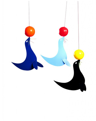 Happy Sealions Mobile by Flensted