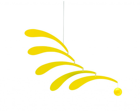 Flowing Rhythm Yellow Mobile by Flensted