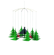 Pixies in the Christmas Forest Mobile by Flensted