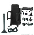 Wilson 815126-H Sleek 4G-V Cradle Mobile Tri-Band Signal Booster Bundle for Verizon LTE w/Home Accessory Kit, main image