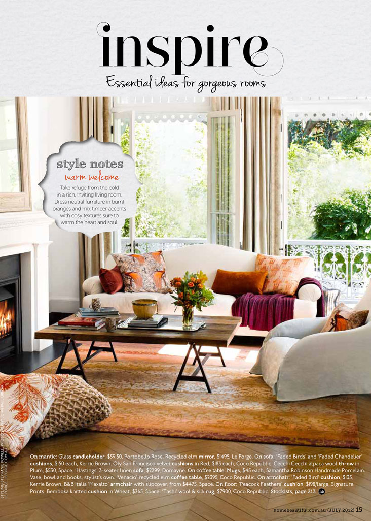 Beautiful Homes Magazine 2012 july issue of home beautiful magazine