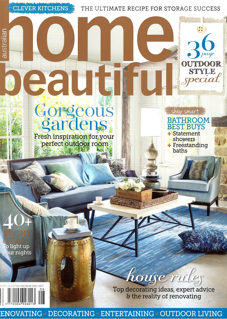 Beautiful Homes Magazine 2013 august issue of home beautiful magazine