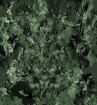 Fabric - Lets Come to an Arrangement Shades of Green